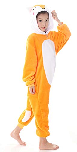 AceChic Unisex Animal Onesie for Kids Halloween Costume Christmas Pajamas Playsuit Jumpsuit Fox 120 -