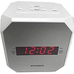 Sylvania SCR1420 Dual Alarm Clock Radio with Snooze