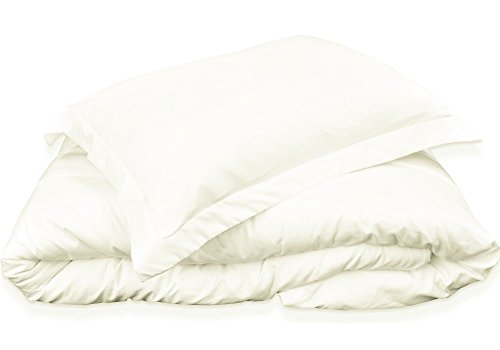 Mezzati Luxury Duvet Cover 3 piece Set – Soft and Comfortable 1800 Prestige Collection – Brushed Microfiber Bedding (Ivory, King (Ivory Duvet Set)