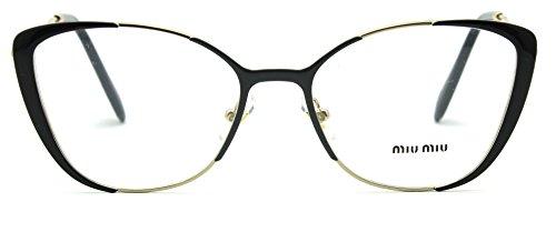 Miu Miu 51QV Butterfly Women Glasses RX - able Gold w/Grey, VYD-1O1 ()