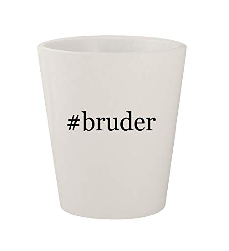 (#bruder - Ceramic White Hashtag 1.5oz Shot Glass)