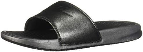 Lima Desafortunadamente Compadecerse  Nike Benassi JDI Metallic QS Women's Slides Metallic Black/Black aa4149-001  (5 D(M) US): Amazon.com.au: Fashion