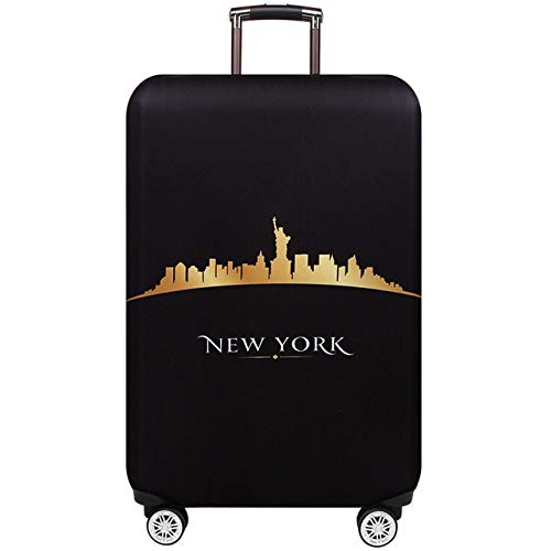 Luggage Cover - Suitcase Covers - Luggage Skins Cover New York Paris Thicken Luggage Protective Cover 18-32inch Trolley Baggage Travel Bag Covers Elastic Protection Suitcase Case 271 by AloPW