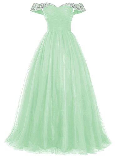Neck Soft Annie's Mint Elegant Tulle Bridal Boat Prom Women's Dress Red Wine HY70wgYq