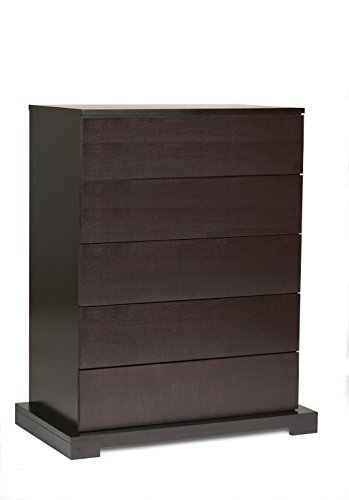 Lifestyle Series Solutions 950 - Lifestyle Solutions 950-5D-HC-CP Zurich Series Chest of Drawers with 5 Pullout Storage Drawers in