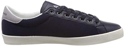 Bleu Up 00285 Sneakers Homme Basses Armani Heel With Sneaker Lace navy Suede Exchange qwv4Bnp