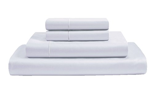 CHATEAU HOME COLLECTION 800-Thread-Count 100% Egyptian Cotton Sheets & Pillowcases Set - Deep Pocket Best Bed Sheets Soft & Silky Sateen Weave Long Staple Combed Cotton Queen Sheet Set, White (Best Bed Sheets Under 100)
