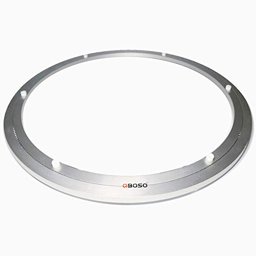QBOSO Aluminum Lazy Susan Ring with Ball Bearing (24-Inch 80-500 Lb Load Capacity) Turntable Hardware for Round Dining Table Smooth Swivel Plate