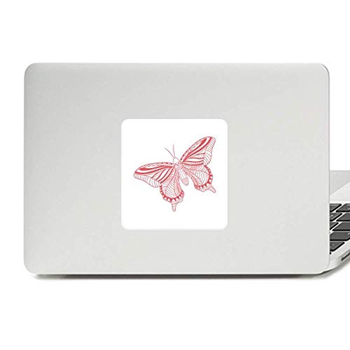 Kite Butterfly Clothing (Pink Butterfly Kite Decal Vinyl Skin Laptop Sticker PC Decoration)