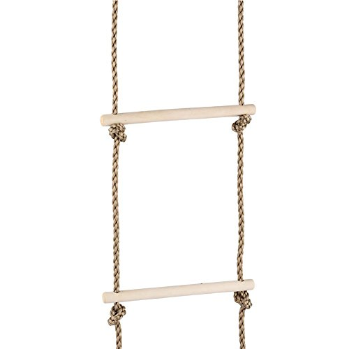 Feileng 5 Steps Climbing Wooden Rope Ladder for Kids Indoor Outdoor Playground by Feileng (Image #6)