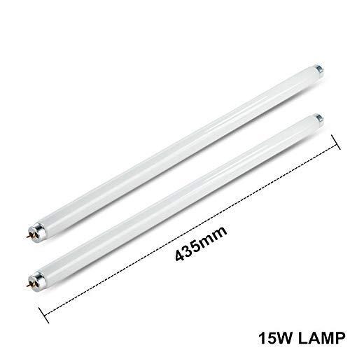 Newlifeelectronic Lot de 2 Tubes de Rechange pour Lampe UV 15 W 30 W