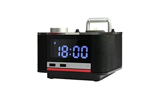 Homtime B11pro Alarm Clock Bluetooth Speaker with Radio Char