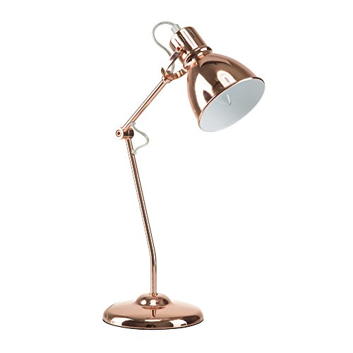 Euro Style Collection ESCTL-LYON-CP Metal Finish Modern Table Lamp, Rose Gold (Lamp Gold Rose Task)