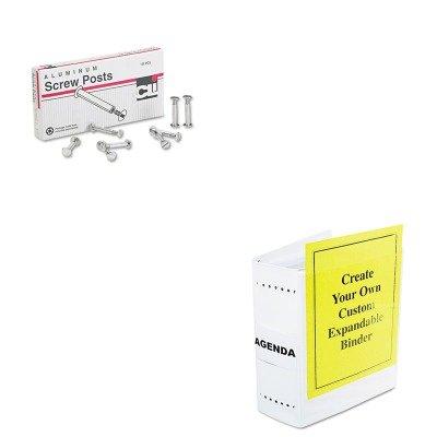 KITLEO3706LLEO61605 - Value Kit - Charles Leonard Varicap6 Expandable 1- 6 Post Binder (LEO61605) and Charles Leonard Post Binder Aluminum Screw Posts (LEO3706L) by Charles Leonard (Image #1)