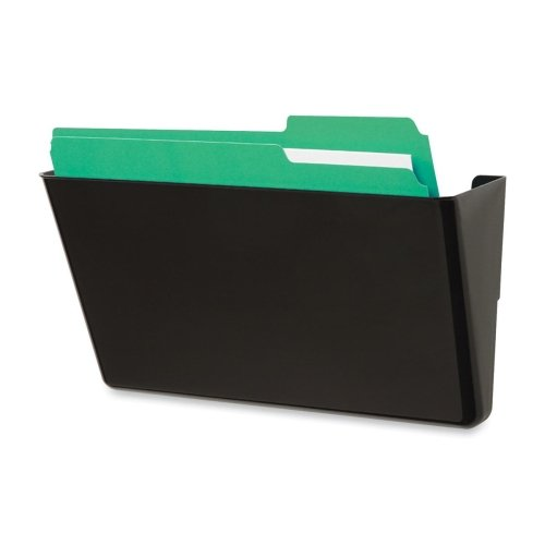Wholesale CASE of 15 - Deflect-O Recycled Docupocket Wall Files-Wall Files, Single Pocket, Letter, 13''x4''x7'', Black
