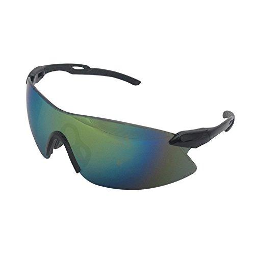 Erb Safety Glasses - ERB 15424 Strikers Safety Glasses, Black Frame with Gold Mirror Lens