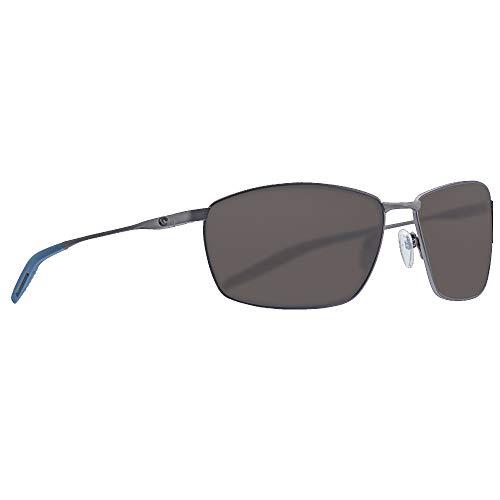 Costa Del Mar - Turret - Matte Dark Gunmetal Frame-Grey 580 Poly Polarized Lenses (Costa Kerl)