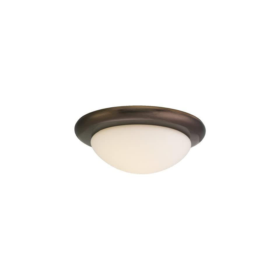Sea Gull Lighting 16048 829 Ceiling Fan Light Kit with Glass, Russet Bronze Finish with White Glass