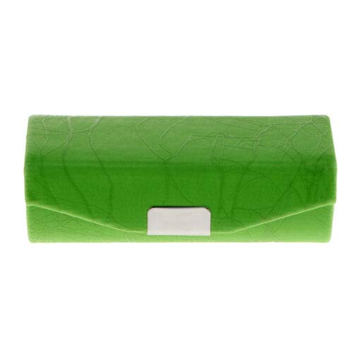 Cracked Stone Pattern Lipstick Case Brocade Embroidered Holder Box w/Mirror (Color - Green) - Francisco Wood Mirror