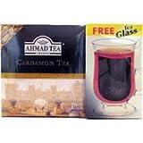 Ahmad Tea : Cardamom Tea : 100 Tea Bags PLUS FREE Tea Glass