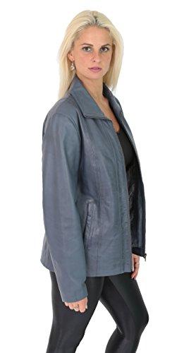 Biker Cuir Réel Femmes Nicole Pour Casual Classique Veste En A1 Bleu Fashion Aménagée Up Zip Goods Vêtement w0RCq4Y