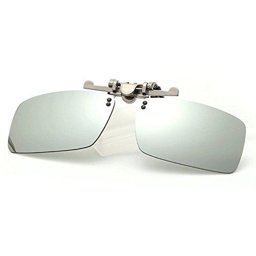 LOMOL Fashion Polarized Myopia Clip-on Flip up UV Protection Rectangular - Sunglasses Reflex Julbo