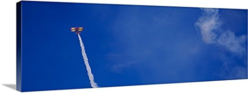 Aerobatic Biplane (Low angle view of an aerobatic biplane in the sky Punta Gorda Charlotte County Florida Gallery-Wrapped Canvas)