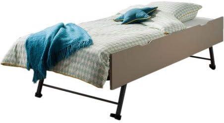 Alfred & Compagnie - Cajón cama nido lino, 90 x 200 x 29 ...