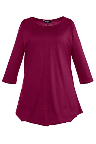 - Ulla Popken Women's Plus Size Pintuck Front Swing Tunic Wine 28/30 705436 50