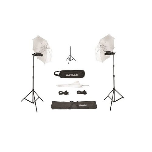 Sonia Pair Porta Umbrella Video Light 4 Still Video Photography Portable Studio Kit