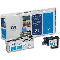 HP C4951A HP NO. 81 PRINTHEAD WITH CLEANER - 1 X CYAN - FOR DESIGNJET - Cleaner Cyan