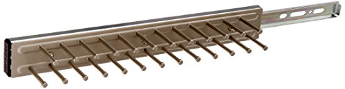 Rev-A-Shelf - TRC-14SN - 14 in. Satin Nickel Pull-Out Side Mount Tie Rack