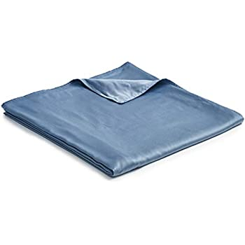 YnM Bamboo Duvet Cover for Weighted Blankets (48''x72'') - Blue Grey Print