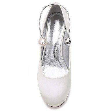 us9 10 eu41 Zapatos mejor para mujer Tacón Tacón Primavera Kitten Perla El 5 Perla Bajo Stiletto Confort regalo Satén Verano Básico de redondo Mujer boda Zapatos madre 8 Tacón y 5 Dedo Pump uk7 pnxwA0wq