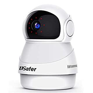 Indoor WiFi Camera, Auto Motion Tracking Wireless Security Cameras with 32GB TF Card, 2.4ghz 1080P Night Vision IP WiFi Dome Camera with 2 Way Audio for Home Security for Pet/Baby/Elder, Dsafer