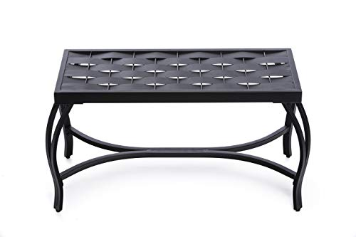 Mango Steam Weave Bench (Charcoal/Black)