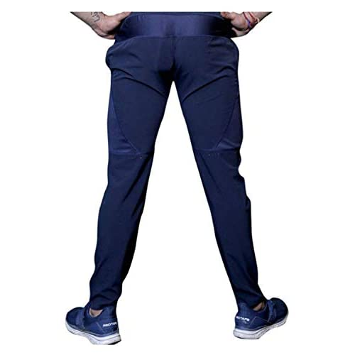 31mVBNs79kL. SS500  - BuyBack Men's Cotton Track Pants, Joggers, Night Wear Pajama, Sports Gym, Lower with Zip Pockets (Blue, Large)