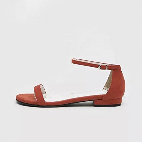 scarpe fondo colleghe dal caviglia caviglia da a sandali spiaggia YMFIE toe Onorevoli outdoor piatto estate t5qwEypxPS
