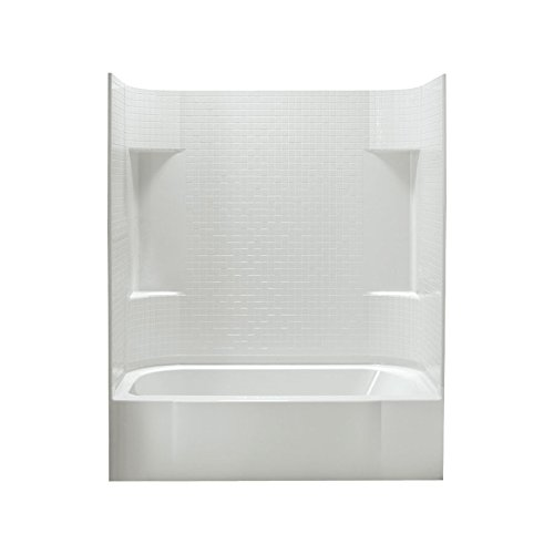Sterling Plumbing 71140110-0 Accord Bath and Shower Kit, 60-Inch x 30-Inch x 77.75-Inch, Left-Hand, White by Sterling Plumbing