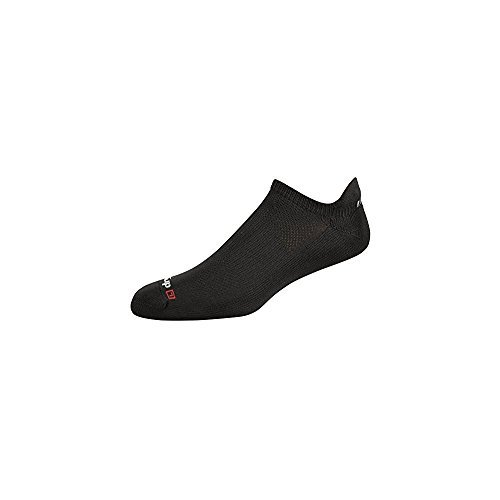 Mesh No Show Tab, Black, 2 Pair Pack, W5-7 / M3.5-5.5 (Drymax Running Socks)