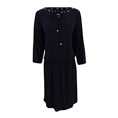 Nine West Women's Blouson with Eyelets and Drawstring at Neckline at Women's Clothing store