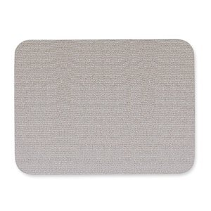 Oval Office Fabric Bulletin Board, 48 x 36, Gray