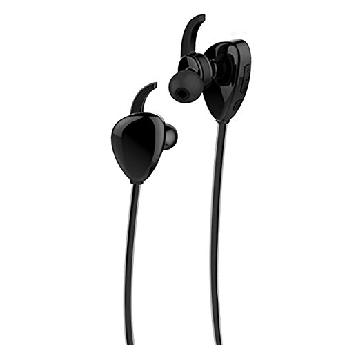 Shineverta Sport Headphones 4.1 With NFC Mic ,Waterproof Stereo Headset Connected For All iPhone Sumsung Sony etc (Black)