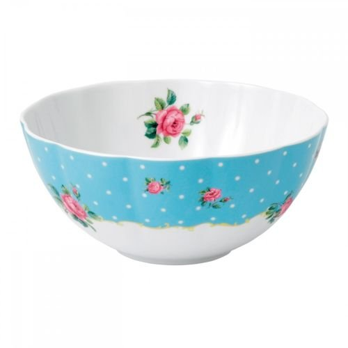 Royal Albert New Country Roses Baking Bliss Mixing Bowl, 2-Quart, White
