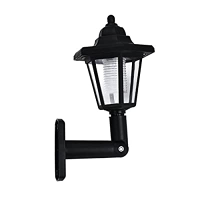 Vacally LED light, Solar Power LED Light Wall Fence Lamp Outdoor Garden Night Lights for Patio Yard Garden Driveway Pathway Pool
