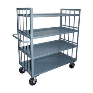 Stock Cart, 2 Slat Sides, 4 Shelves, 24x48 (Two Slat Shelves)