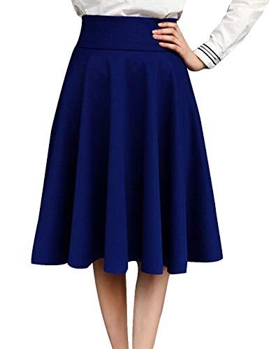 lgant Ligne A Taille Wedding Swing Genou Plus Au SOMTHRON S Bleu La Taille Classique Dress Dance Jupe XXXXXL Vintage Jupes Femmes Haute Party wIxTqCnC05