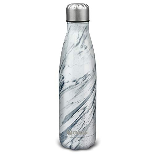 - Cicike Double Wall Stainless Steel Vacuum Insulated Drinking Sport Water Bottle, Leak Proof and BPA Free, for Outdoor, 17oz/500ml, Keeps Water Cold 24 Hours and Hot 12