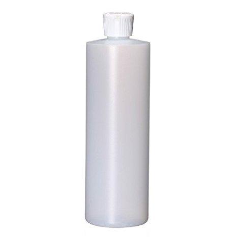 Bargz Empty Plastic Bottles - Refillable Cylinder Multi Purpose Plastic Bottles - Bulk - 16 oz Pack of (16 Oz Plastic Cylinder Bottles)
