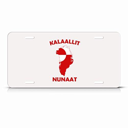 Greenland Kalaallit Nunaat Flag Country Metal License Plate Tag